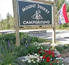 mount desert campground sign