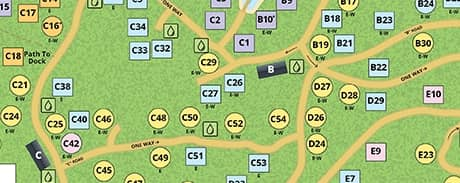 campground map of mount desert campground